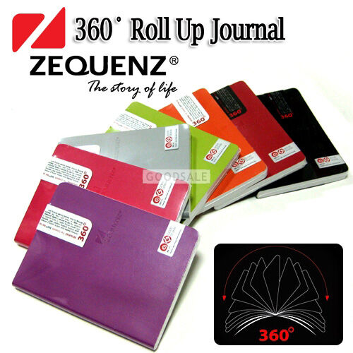 MONAMI Zequenz Boutique 360 Degree Roll Up Journal Diaries Middle 12.5x17.8cm in Books, Accessories, Blank Diaries & Journals | eBay