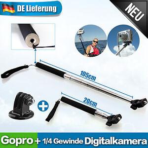 MONOPOD-Armverlaengerung-Handstativ-Handheld-Stativ-fuer-GoPro-HERO3-HERO2-Adapter