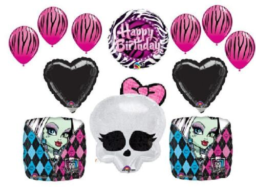 MONSTER HIGH BALLOONS party decorations birthday zebra pink black NEW LOW PRICE in Home & Garden, Holidays, Cards & Party Supply, Party Supplies | eBay