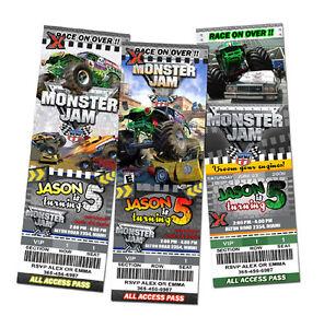 Monster Truck Invitations was good invitation ideas