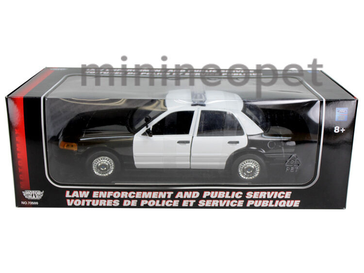Motormax 2001 Ford Crown Victoria Unmarked Police Car 1 18 Black White