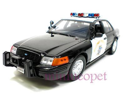 MOTORMAX FORD CROWN VICTORIA 1 18 POLICE HIGHWAY PATROL BLACK