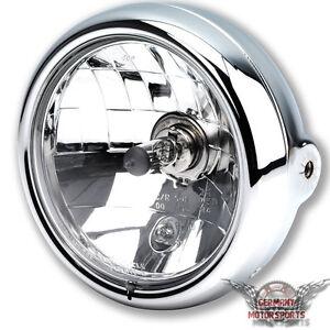 motorrad scheinwerfer klar glas h4 chrom suzuki gsf bandit. Black Bedroom Furniture Sets. Home Design Ideas