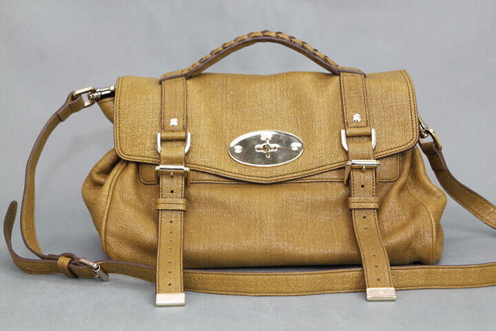 c8e89ae713 MULBERRY 11AW NWT OLIVE ALEXA SPARKLE TWEED SATCHEL on PopScreen