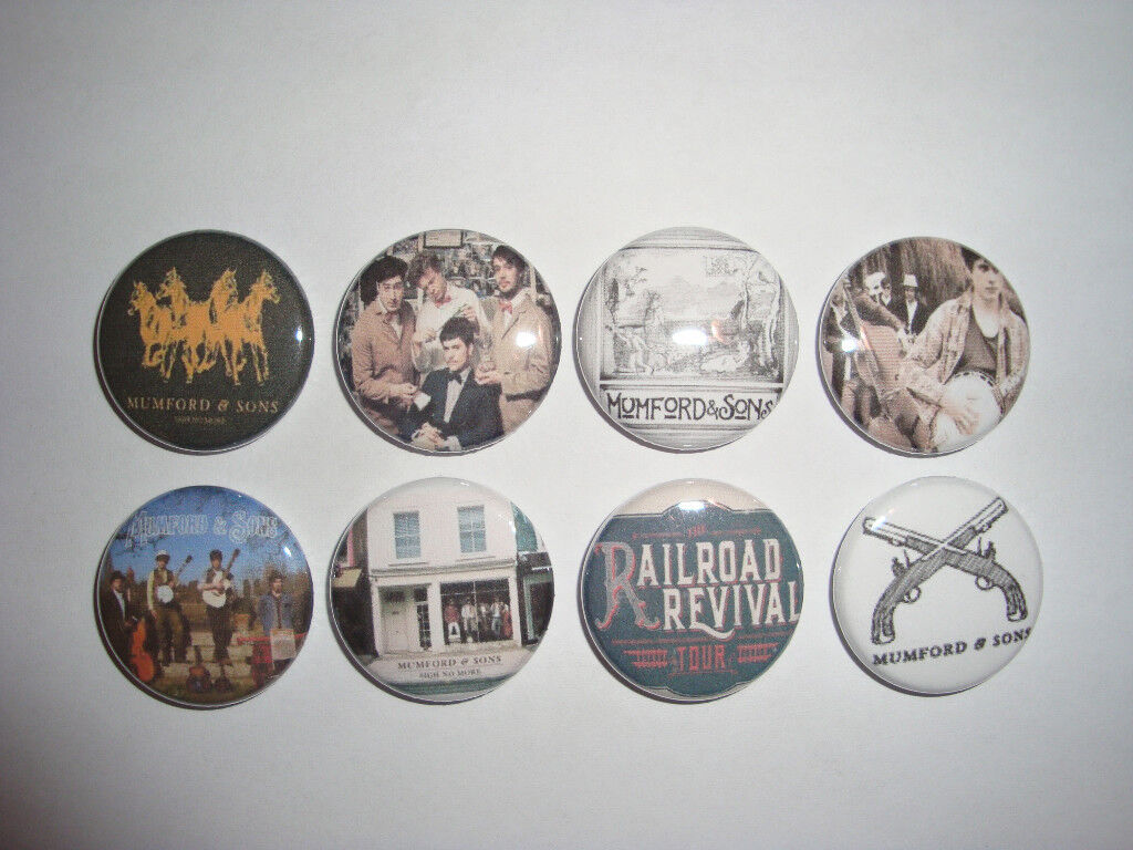 Mumford and Sons Buttons Pins Badges Indie Folk