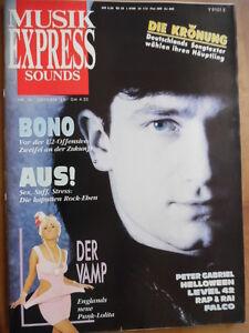 MUSIKEXPRESS-10-1988-BONO-U2-Transvision-Vamp-FALCO-Level-42-Peter-Gabriel