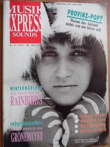 MUSIKEXPRESS-4-1988-4-Rainbirds-Groenemeyer-Robert-Plant-Lee-Roth-Nina-Hagen