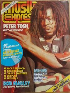 MUSIKEXPRESS-7-1981-Peter-Tosh-Dave-Edmunds-Bob-Marley-Interzone-Schallfolie