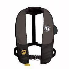 MUSTANG SURVIVAL MD3184 Auto Inflatable PFD w/Harness Life Jacket Vest Black NEW in Sporting Goods, Water Sports, Swimwear & Safety | eBay