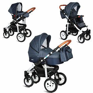 my junior miyo kombi kinderwagen 3 in 1 11 teile set buggy babyschale ebay. Black Bedroom Furniture Sets. Home Design Ideas