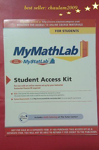 Mymathlab Student Access Code Kit My Math Lab My Mymathlab Student