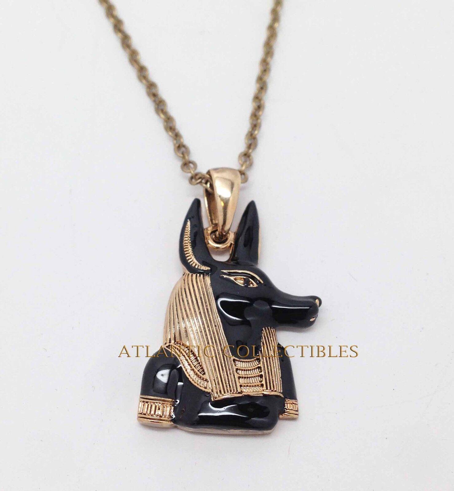 AFTERLIFE GOD ANUBIS NECKLACE ANCIENT EGYPTIAN BLACK GOLD ...  AFTERLIFE GOD A...