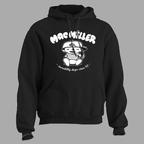 Mac Miller ~ Knock Knock ~ HOODED SWEATSHIRT rap hip hop t shirt tee