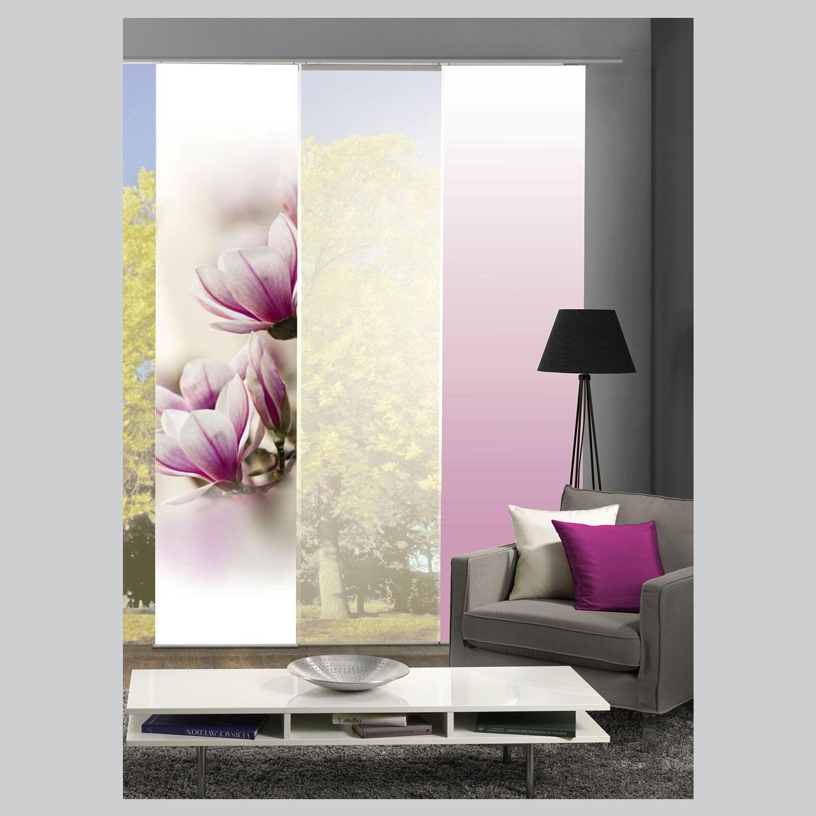 magnene magnolie bl te schiebevorhang raumteiler home wohnideen schmidtgard ebay. Black Bedroom Furniture Sets. Home Design Ideas