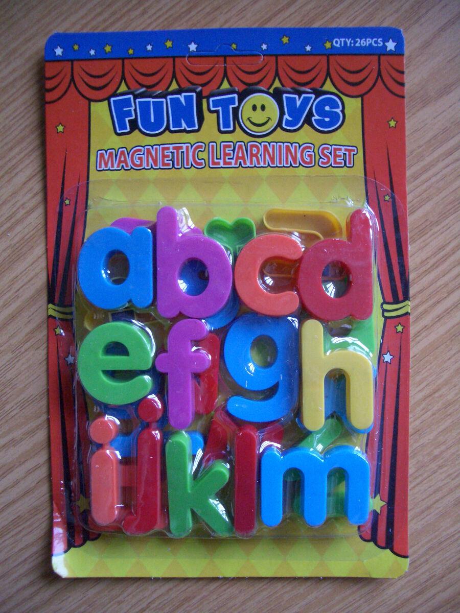 Magnetic Letters Childrens Kids Learn Alphabet Toy Fridge Magnets