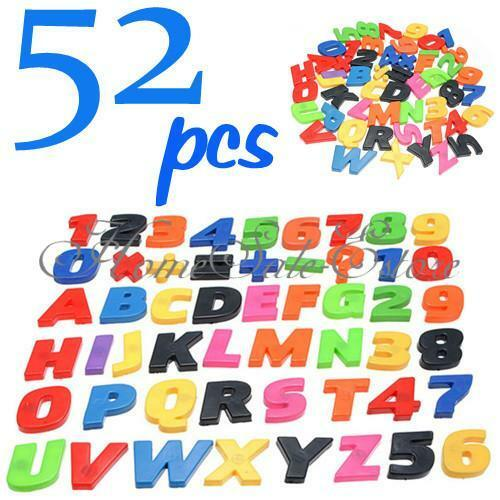Magnet Letters Alphabet Numbers Fridge kids child Educational toy set