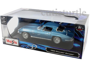 Corvette Stingray 1965 on Maisto 1965 Chevrolet Corvette Stingray 1 18 Diecast Light Blue   Ebay
