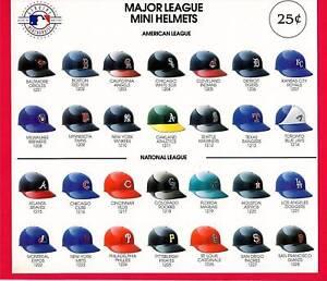 Major League Mini Baseball Helmets Vending Machine Sign | eBay