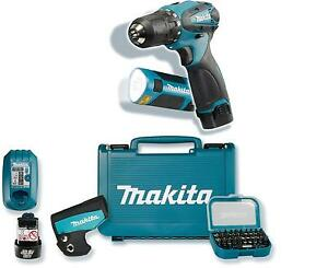 makita akkuschrauber 10 8v df330dwlx1 akku lampe bit set satz neuware ebay. Black Bedroom Furniture Sets. Home Design Ideas