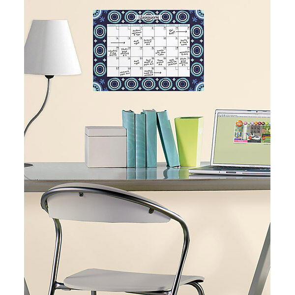 Malaya Monthly Dry Erase Calendar Removable Wall Decal