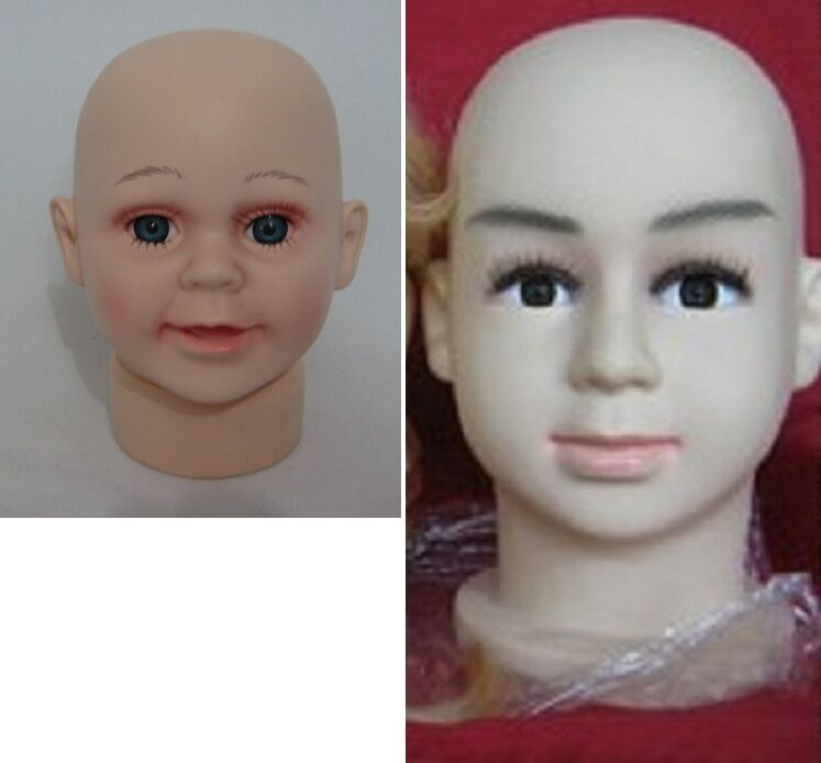 Male Female Teen or baby Boy Girl Mannequin Head for Display cap hat