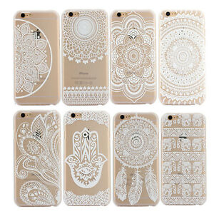 mandala motiv henna muster handy h lle schutz case cover tasche iphone silikon ebay. Black Bedroom Furniture Sets. Home Design Ideas
