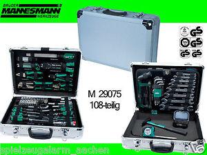 Mannesmann-M-29075-Profi-Werkzeugsatz-108-teiliger-Werkzeugkoffer-Werkzeugkasten