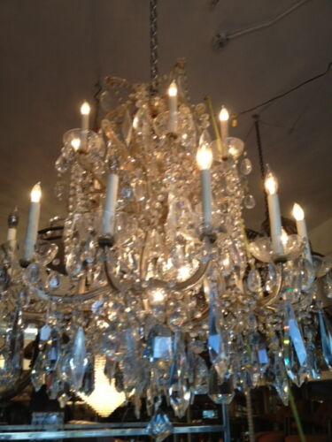 Maria Teresa crystal chandelier 40 years old antique vintage 21 light in Antiques, Architectural & Garden, Chandeliers, Fixtures, Sconces | eBay