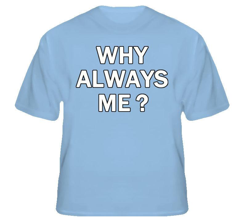 Mario Balotelli Soccer Why Always Me Man City T Shirt