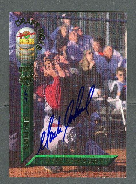 Mark Johnson 1994 Signature Rookies Draft Auto card #25