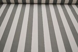 markisenstoff grau wei gestreift 160cm breit stoff f r markisen meterware 300 ebay. Black Bedroom Furniture Sets. Home Design Ideas