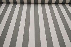 markisenstoff grau wei gestreift 160cm breit stoff f r. Black Bedroom Furniture Sets. Home Design Ideas