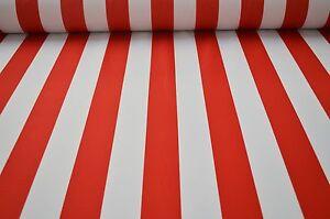 markisenstoff rot weiss gestreift wasserdicht meterware wasserdichter stoff ebay. Black Bedroom Furniture Sets. Home Design Ideas