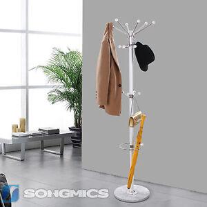 marmor garderobe garderobenst nder kleiderst nder mit schirmst nder wei rcr21w ebay. Black Bedroom Furniture Sets. Home Design Ideas