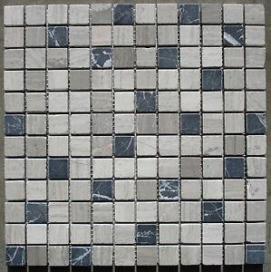 marmor mosaik fliese grau schwarz 30x30x0 8cm 2 5x2 5cm. Black Bedroom Furniture Sets. Home Design Ideas