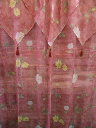 Maroon with White and Yellow Flowers Shower Curtain w/ Plastic linen and hooks in Home & Garden, Bath, Shower Curtains | eBay