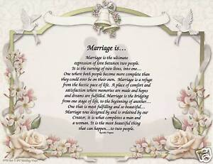 Marriage Poem Wedding Vows Art Print Personalized Name