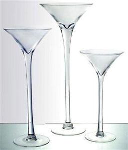 "Martini Glass Vase 16"" 20"" 23"" Wedding Centerpiece Tall ..."