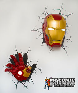 Marvel Avengers Iron Man Face Amp Hand Combo Pack 3d Wall