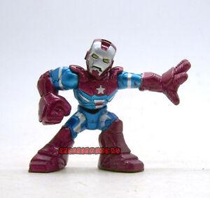 Marvel comic super hero squad iron man iron patriot loose action
