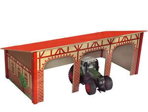 maschinenhalle 3 fach garage holz f r bruder traktor ebay. Black Bedroom Furniture Sets. Home Design Ideas