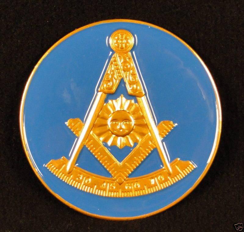 Masonic Past Master Car Emblem  3