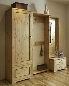 garderoben set kiefer dielen flur garderobe m bel massiv holz gelaugt ge lt ebay. Black Bedroom Furniture Sets. Home Design Ideas