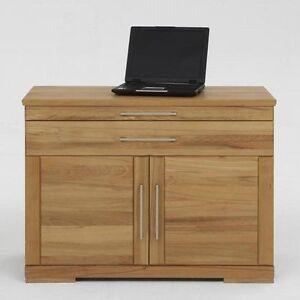 massivholz laptop kommode holz kernbuche massiv ge lt notebook schreib schrank ebay. Black Bedroom Furniture Sets. Home Design Ideas