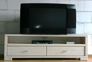 tv lowboard weiss tv kommode fernsehschrank holz kiefer massiv weiss. Black Bedroom Furniture Sets. Home Design Ideas