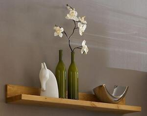massivholz wandboard wandregal holzregal regalbrett holz kiefer massiv gelaugt ebay. Black Bedroom Furniture Sets. Home Design Ideas