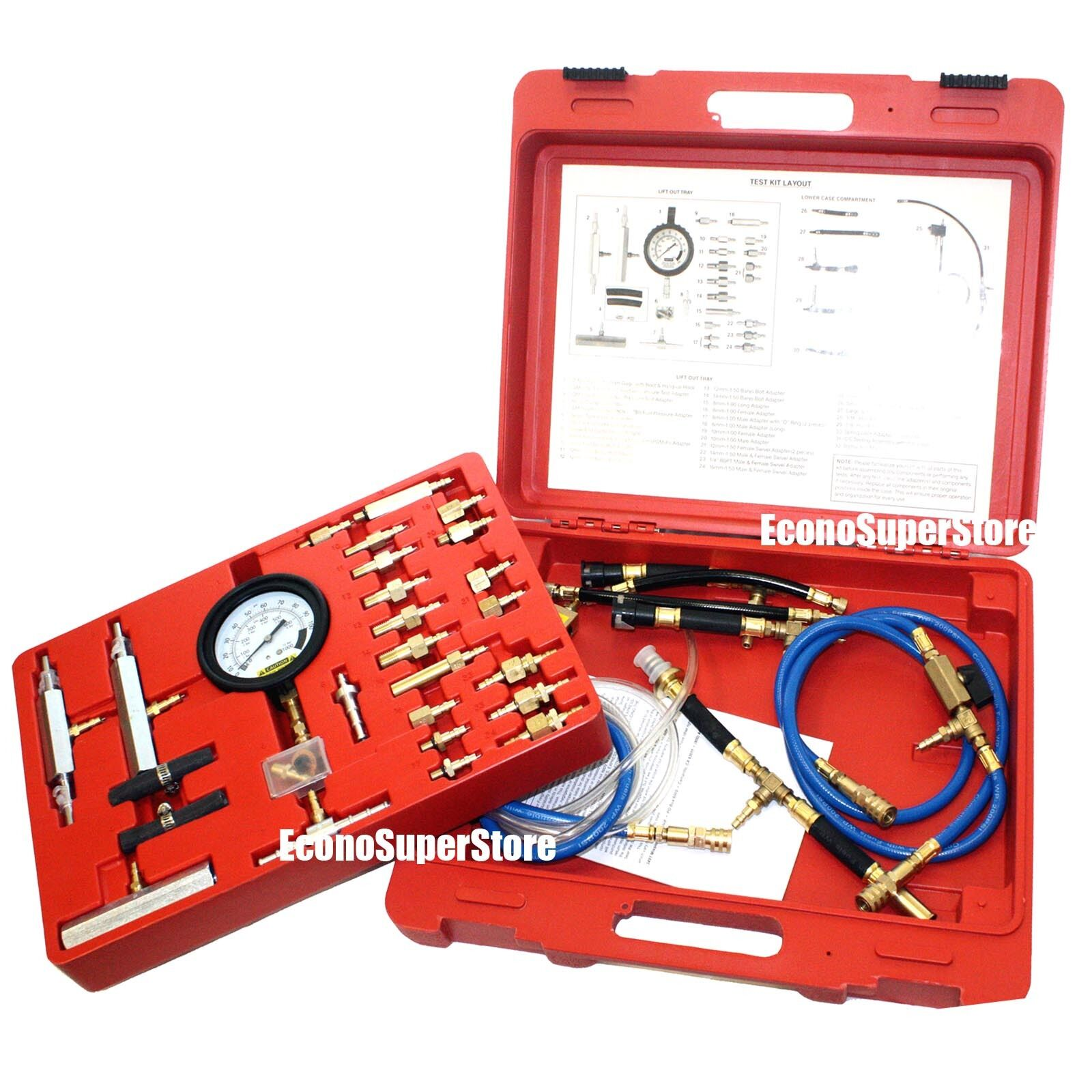 Master Fuel Injection Pressure Test Kit CISE CIS GM Ford Toyota Honda