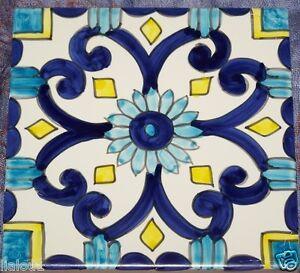 Mattonella piastrella 10x10 ceramica vietri tile maiolica cucina bagno berg 85 ebay - Ceramiche vietri bagno ...