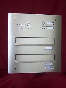 mauerdurchwurf briefkasten anlage 2 er tiefe verstellbar klingel edelstahl mdh46 ebay. Black Bedroom Furniture Sets. Home Design Ideas