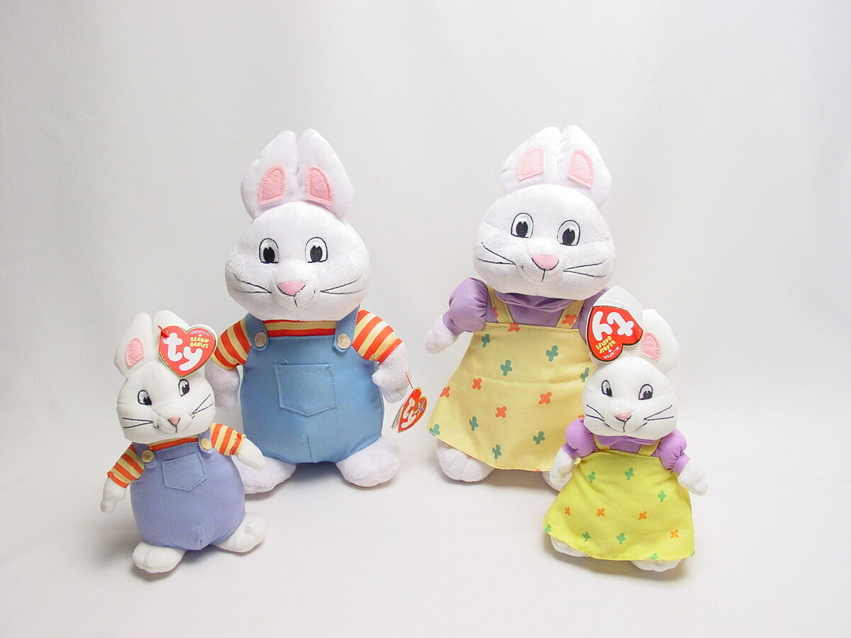 0a8953be40c Max and Ruby Large Plush Beanie Baby Set Toy Doll Ty on PopScreen